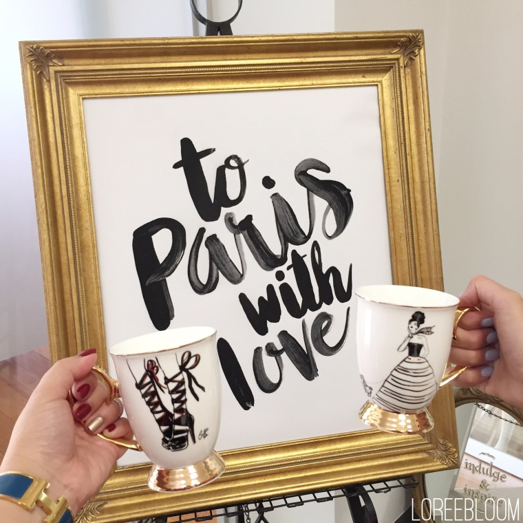 Cristina Re, To Paris with Love, Eiffel Tower, Paris, Parisian, France, Cristina Re Designs, Crockery, Illustrations, Illustrator, PR event, Melbourne, Collingwood, Melbourne Event, Melbourne PR Event, Interior Design, colouring in, colouring in books, plates, high tea,