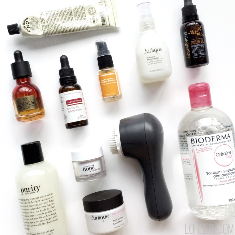 Skincare, nighttime skincare, skincare must haves, skincare favourites, bodycare, natural skincare, organic skincare, organic skin that works, Melbourne, Australia, Mecca, Priceline, grown botanical, moisturiser, Grown Facial Moisturiser Camellia & Geranium Blossom, The Body Shop, The Body Shop Oils of Life, Trilogy Rosehip Oil, Ole Henriksen Truth Serum Vitamin C Collagen Booster, serum, Jurlique Rosewater Balancing Mist, Rosehip Plus Rosehip Oil, Philosophy Cleanser, Bioderma Micellar Water, Clarasonic Mia 2, Philosophy Eye Cream, Jurlique Rose Moisture Plus Revitalisting Gel-Lotion, The Body Shop Oils of Life Intensely Revitalising Facial Oil, Sukin Botanical Body Wash Lime and Coconut, Lani Bodyoil, natural supply co, Lavanila labs, Lavanila deodorant, review, Lavera Deodorant with Organic Wild Rose, skincare review, Aesop, Aesop Geranium Leaf Body Cleanser, looking after your skin, organic products