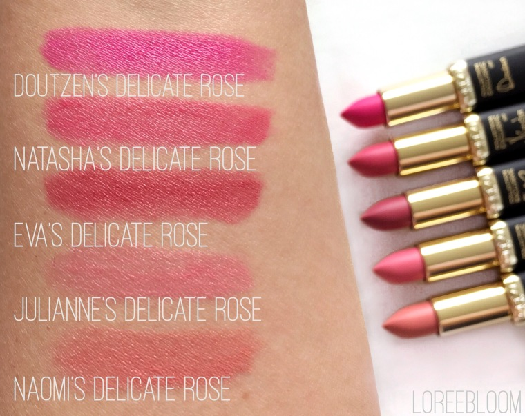 Loreal, Loreal La Vie En Rose, Loreal Pink, Loreal Pink Collection, Loreal Pinks, Loreal Collection Exclusive, Loreal Color Riche, Loreal Collection Exclusive By Colour Riche La Vie En Rose, Lipsticks, Lipstick, review, swacthes, 101, 102, 208, 504, 202, Doutzen, Rose, Doutzen's Delicate Rose, Natasha's Delicate Rose, Eva's Delicate Rose, Julianne's Delicate Rose, Naomi's Delicate Rose, pink lipstick, rose lipstick, nail polishes, Color Riche, Loreal Collection Exclusive By Color Riche La Vie En Rose, Melbourne, Priceline, Chemist Warehouse, Target, Big W, Australia, Matte Lipstick,