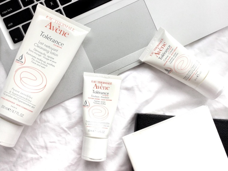 Avene, Skincare, Avene Skincare, How to deal with sensitive skin, sensitive skin, sensitive skin hacks, Avene Tolerance, Avene Tolerance Review, Cleanser, Cleansing Lotion, Emulsion, Creme, French skincare, French brand, Eau Thermale Avene, tutorial, how to